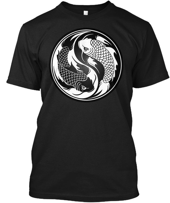 0cc76e84fa49e White And Black Yin Yang Koi Fish Hanes Tagless Tee T-Shirt #fashion ...