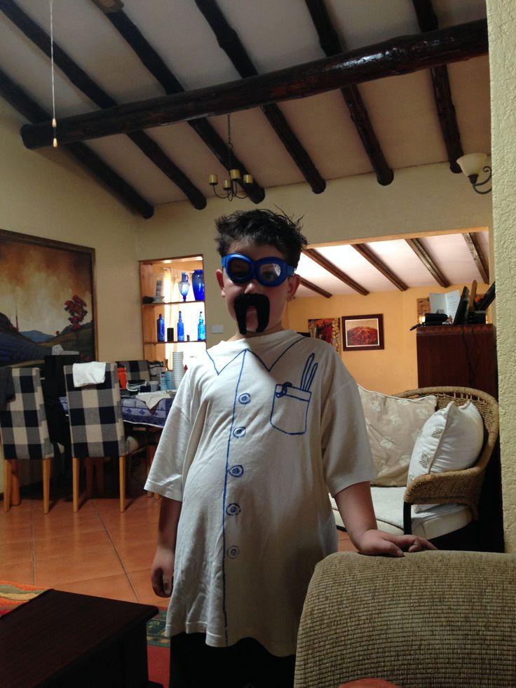 The mad scientist birthday boy