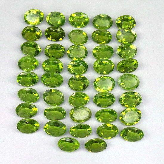 68.30 Cts/42 Pcs Untreated Finest Green Natural Peridot Wholesale Gem 8mm-9mm #GemsIndiaTopRatedPowerSeller5RatingeBay