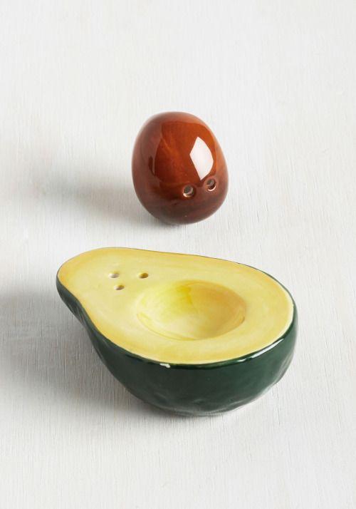 Avocado salt/pepper shaker