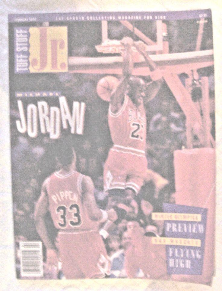 TUFF STUFF JR.-SPORTS COLLECTING MAGAZINE FOR KIDS-MICHAEL JORDAN-FEBRUARY 1992