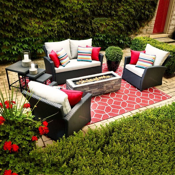 Shop allen + roth Piedmont 4-Piece Patio Conversation Set at Lowe's Canada. Find our selection of outdoor conversation sets at the lowest price guaranteed with price match + 10% off.