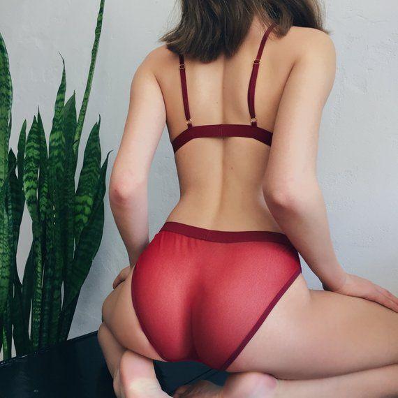 59112cba7b See Through Panties Sexy Underwear Women Erotic Panties Mesh Lingerie  Undies High Waisted Panties Si