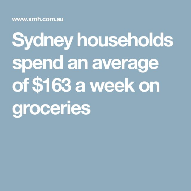 Sydney households spend an average of $163 a week on groceries