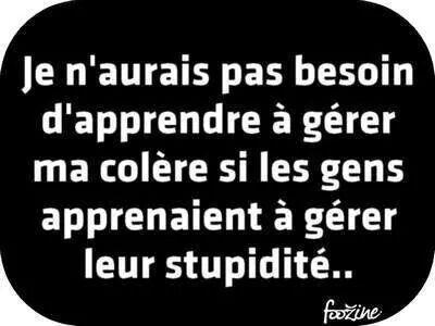 Colère et stupidité