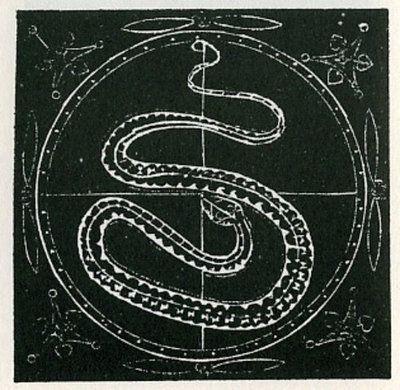 Giordano Bruno, woodcut known as Prometheus from Articuli centum et sexaginta adversus huius tempestatis mathematicos atque philosophos, Prague 1588