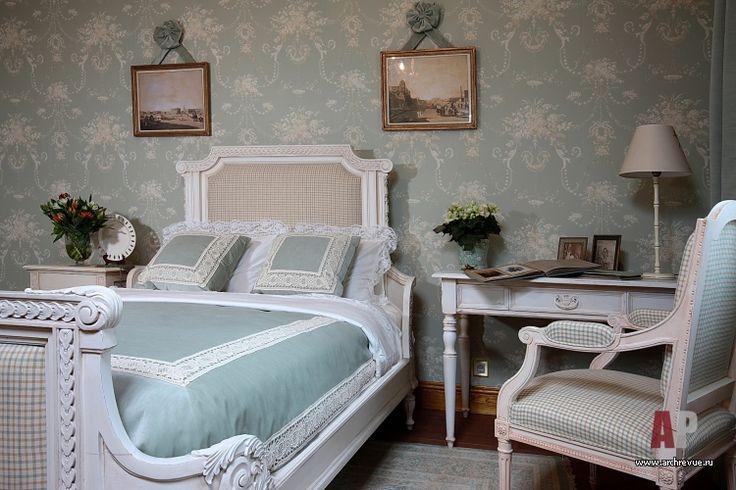 Фото интерьера будуара деревянного дома в английском стиле