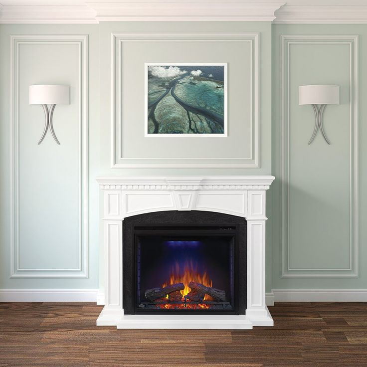 10 best fireplace surrounds images on pinterest at home beach house and custom wood - Choosing the right white electric fireplace for you ...