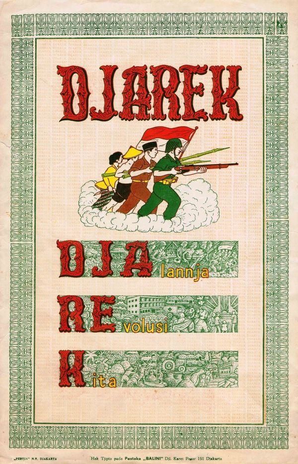 Original Vintage Posters -> Propaganda Posters -> Djarek - Revolution in Indonesia - AntikBar