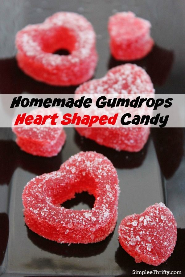 Homemade Gumdrop Heart Shaped Candy | DIY Valentine's Day Treat If you like Gumdrops you will be sure and try out this Homemade Gumdrops Heart Shaped Candy Recipe!