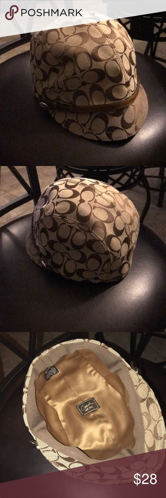 Newsboy Authentic Coach Hat Tan and brown Authentic Newsboy Coach hat. Excellent condition never wore it! Size p/s Coach Accessories Hats