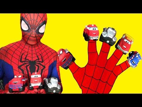 Spiderman Finger Family Nursery Rhymes | Monster Trucks finger family rhymes collection - YouTube