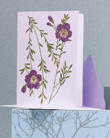 greeting cardsFloral Design, Art Cards, Clip Art, Flower Clips, Martha Stewart, Greeting Card, Glitter Cards, Purple Flower, Clips Art