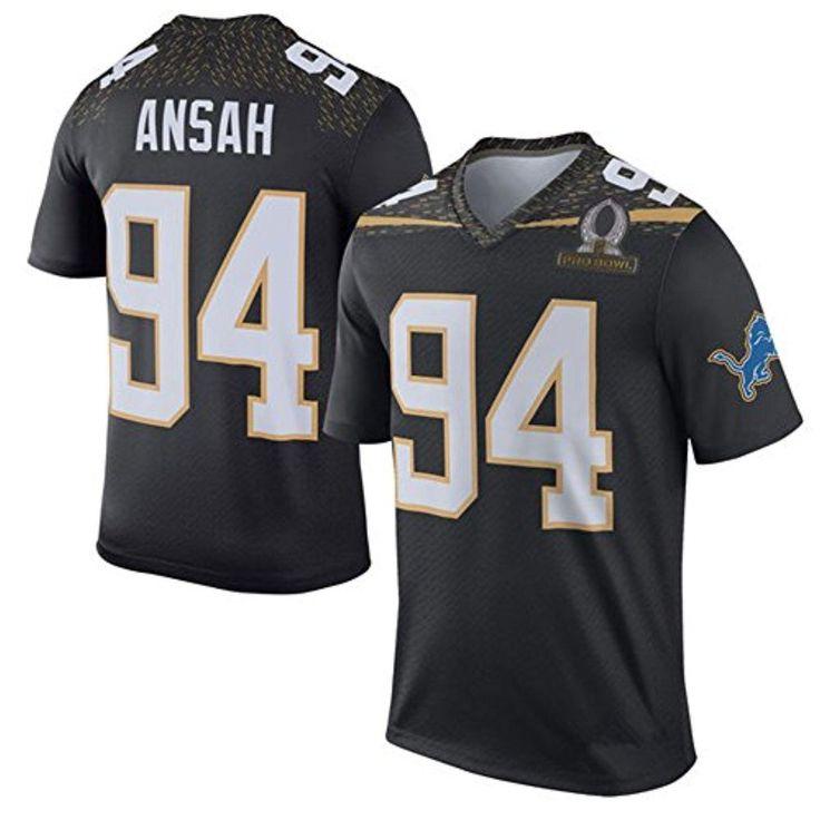 XMHOME Football Jerseys Mens Elite Ezekiel Ansah #94 Detroit Lions Black - Brought to you by Avarsha.com
