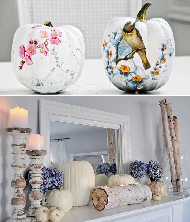 white pumpkin decorations 2