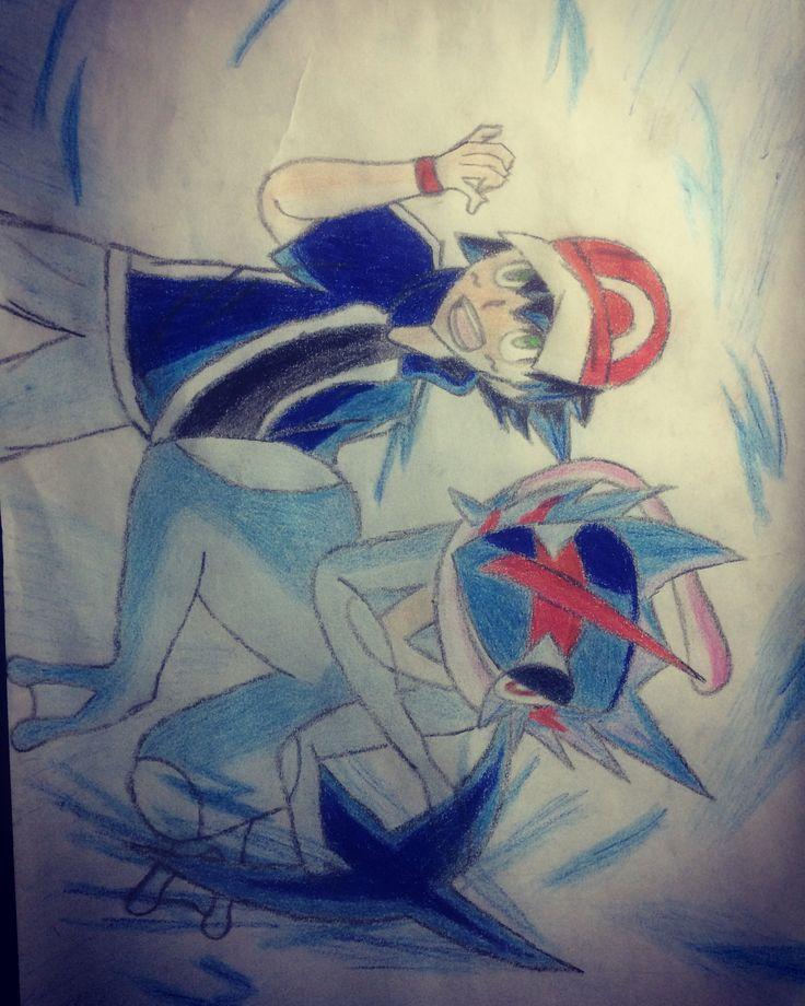 My favourite duo;).What is your favourite duo?:D #art #paint #anime #pokemon #pokemonxyandz #pokemonash #pokemonashketchum #pokemongreninja #pokemonart