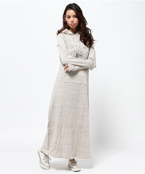 マキシ丈もかわいい♡春夏のファッションアイテム パーカーワンピのコーデアイデアを集めました♡