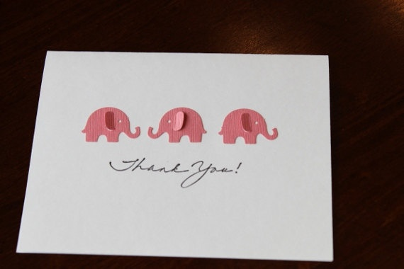 Thank you Cards Baby Shower Elephants Customize w/ by RoyalRegards, $14.00