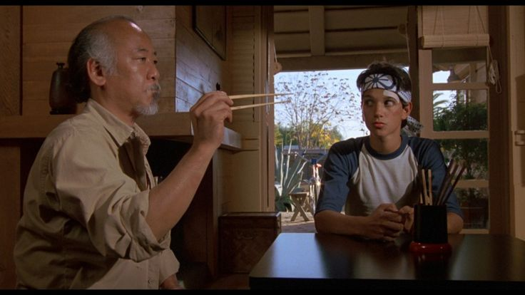 """The Karate Kid. """"Man who catch fly with chopstick accomplish anything."""""""