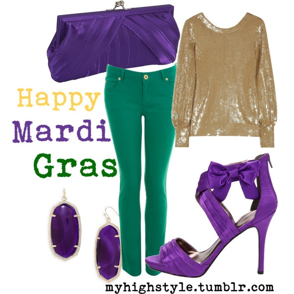 Mardi Gras_would be good for a warm outfit on a cold night! as is often the case on Fat Tuesday.