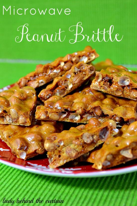 Lady Behind The Curtain - Microwave Peanut Brittle