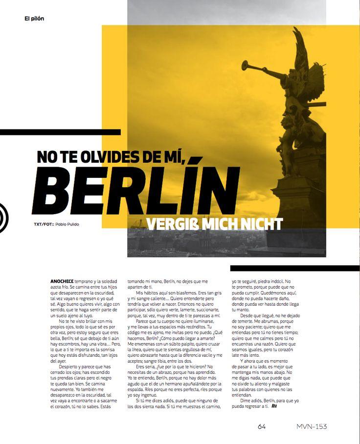 No te Olvides de mí, Berlín.   #MinimalDesign #GermanyDesign #Germany #Minimal #RevistaMarvin #Marvin #ArtDirection #Magazine #EditorialDesign #Editorial #GraphicDesign #Berlin