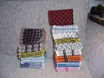 håndledsvarmere jeg har strikket og solgt