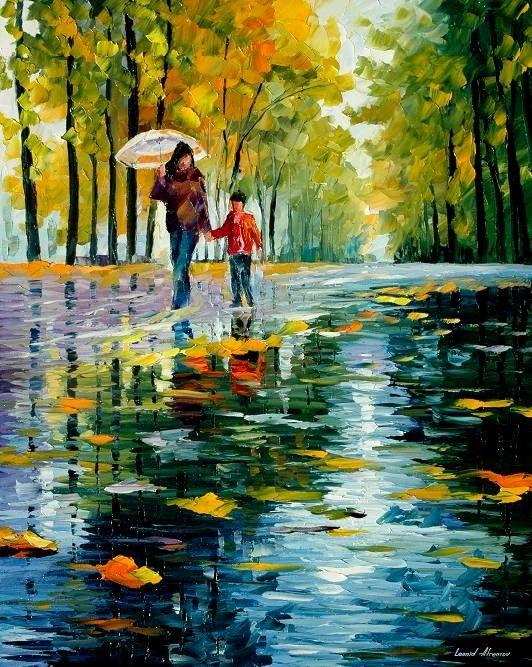 Autumn in oil - Leonid Afremov