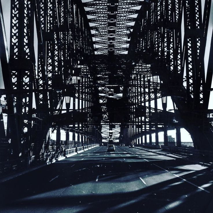 Lonely and beautiful. 7:48am Sunday morning. #sydneyharbourbridge #newsouthwales #topdecker #sydney #sydneylocal #sydneylove #sydneylocals #sydneyharbour #australia #aussie #travel #travelingram #travelphotography #traveller #travelling #travelblog #tourism #tourguide #adventure #explore #inspiration #bridges #blackandwhite #architecture #tagesforlikes #lovinglife by adventureforalan http://ift.tt/1NRMbNv