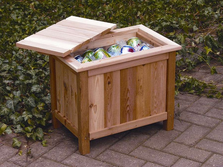 Cedar Backyard Ice Cooler