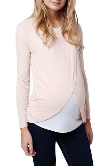 Topshop Long Sleeve Maternity/Nursing Top available at #Nordstrom
