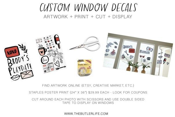 The Butler Life | Family-Food-Travel-Lifestyle Custom Window Decals DIY Party Ideas