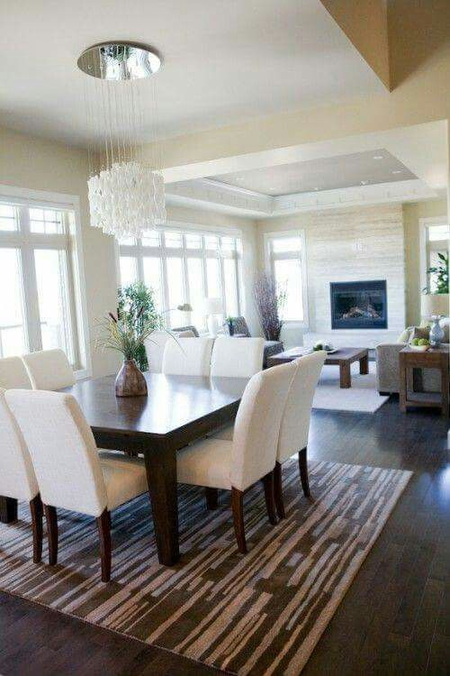 Dining Room Area And Decor Ideas Light Fixtures Wall Color Scheme