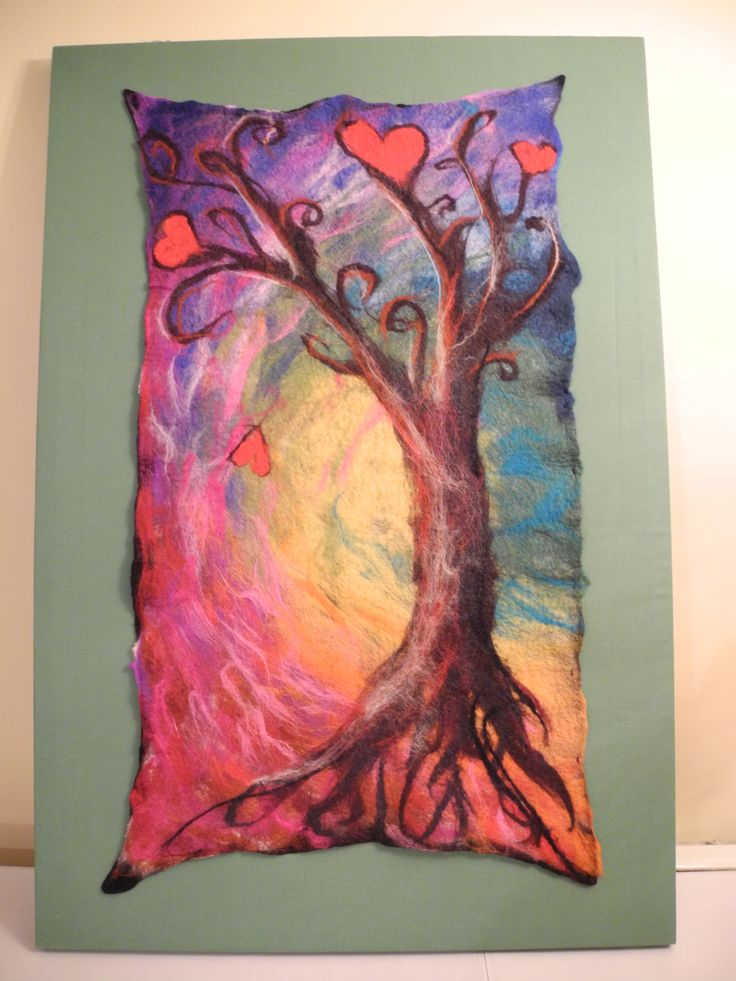 Felt Art Work  for 'Mona's Room',  Spafied Resource Centre