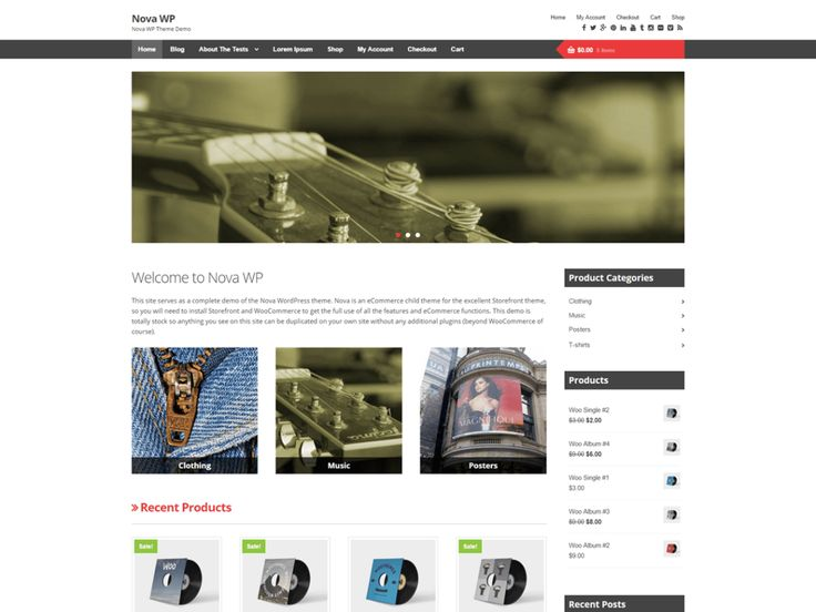 Nova WP — Free WordPress Themes