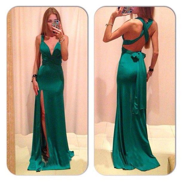 Ed362 Charming Evening Dress,Satin Evening Dress,Backless Evening Dress,Mermaid Prom Dress