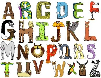 Free animal themed alphabet letters draw pinterest for Animals with the letter o in their name
