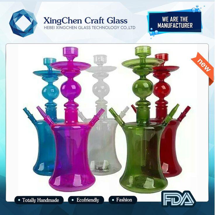 Borosilicate glass led hookah narghile shisha chicha fumo