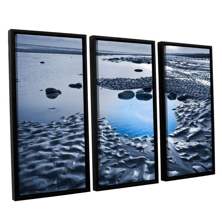 ArtWall Simon Kayne ' Dunes On Winchelsea Beach' 3-piece Floater Framed Set