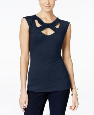INC International Concepts Cap-Sleeve Cutout Top, Only at Macy's | macys.com