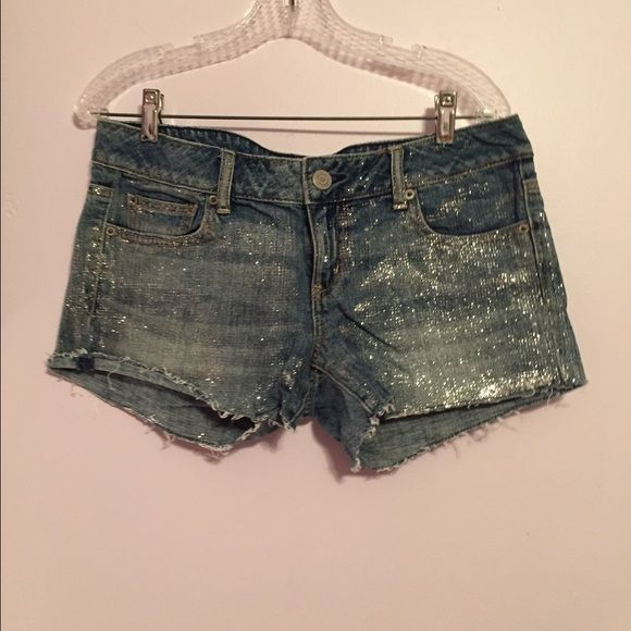 Glitter shorts Super cute glitter shorts. Please make me an offer, cleaning out my closet!! American Eagle Outfitters Shorts
