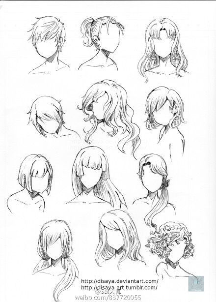 Hair concepts, different styles and lengths from creds to artist #creds # hair concepts #kunstler #lange #stile