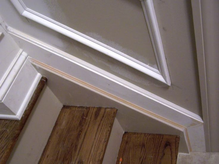 Basement Stair Trim: Stair Stringer With Base Transition.
