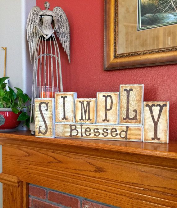 275 best blocks images on pinterest wood crafts for Faith decor