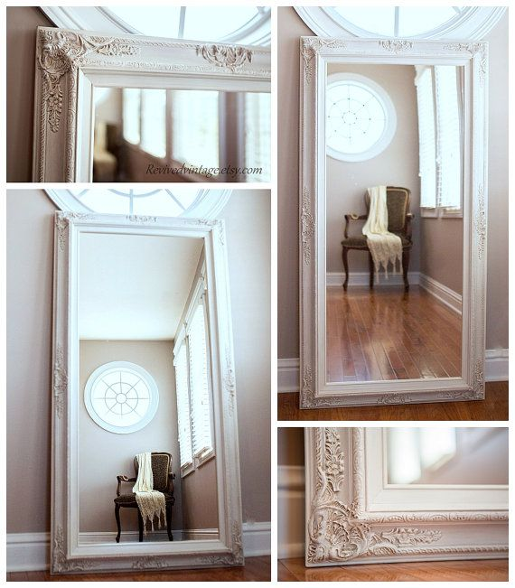 """SALON MIRRORS For Sale Large 56""""x 32"""" Baroque Decorative Mirror Hair Salon Mirror Long Leaning Mirror French Country Framed Mirror Home"""