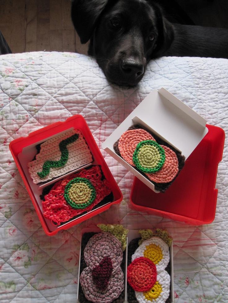 Uhm... madpakketid #food #crochet #egg #picnic #gallerigavlen