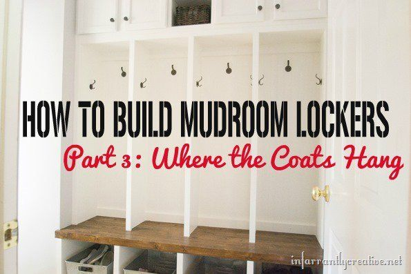 Want to create a designated place to hang coats and backpacks? Check out this tutorial on how to build your own mudroom lockers!