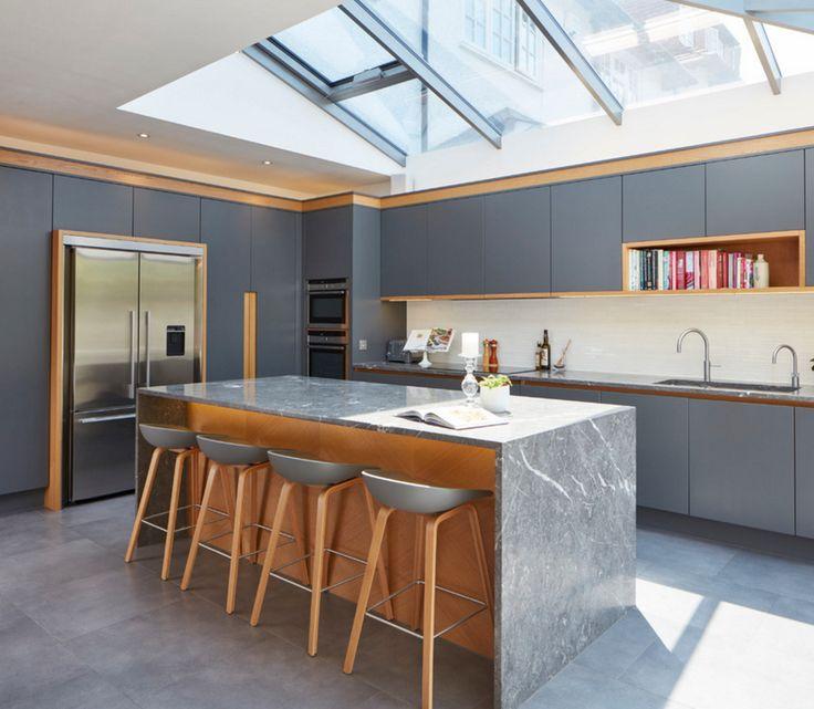 A Bespoke Kitchen Design Reflecting The Clientu0027s Desire To Combine  Contemporary Kitchen Design With Traditional British Craftsmanship.