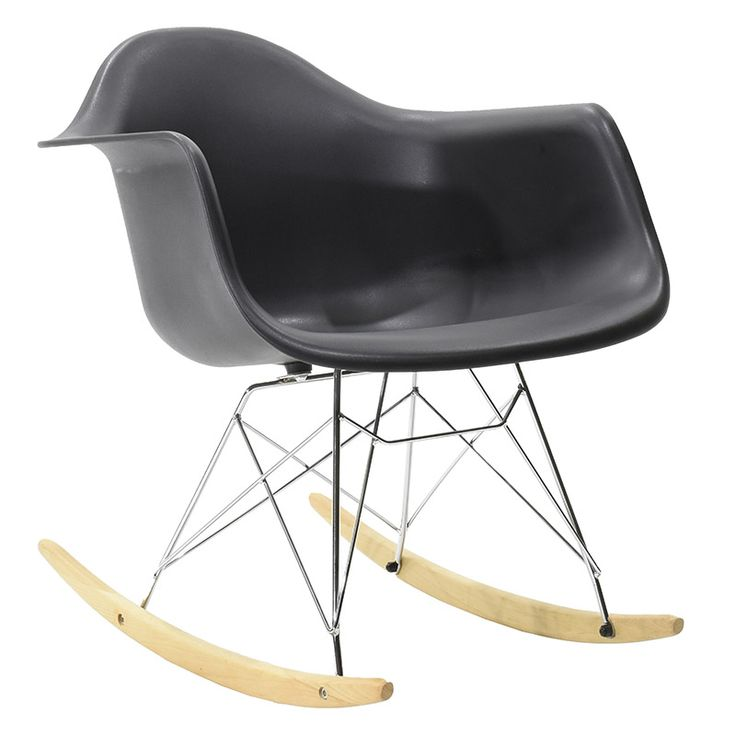 Propylene rocking chair Julita matte black