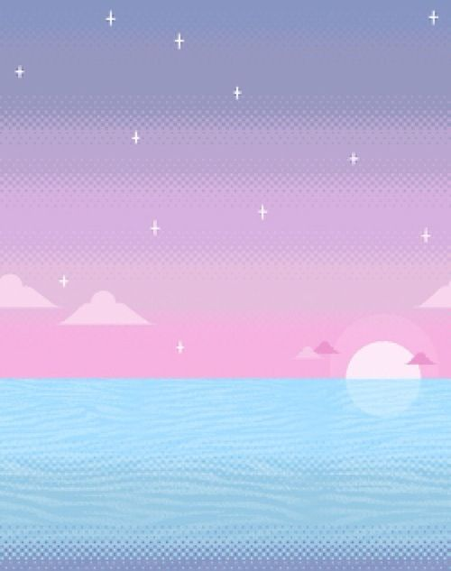 Blue Pink Aesthetic Pastel Wallpaper